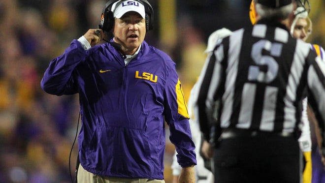 LSU coach Les Miles said he is going to work to get his team a victory on Saturday.