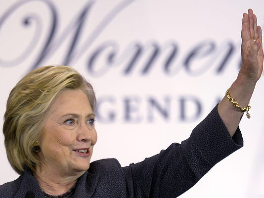 Hillary Clinton speaks at the Black Women's Agenda Annual Symposium