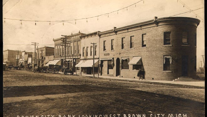 Historial downtown Brown City.
