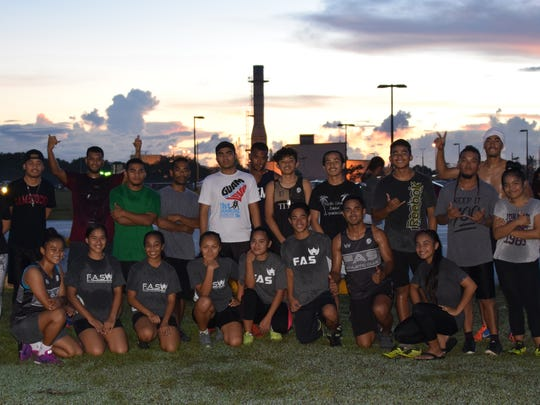 FAS track team members who will be competing in Chuuk at the end of the month.