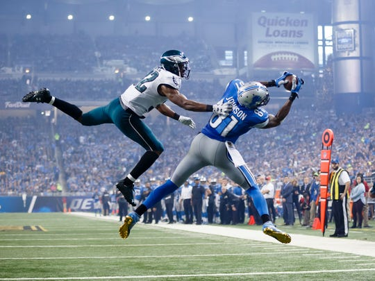 Detroit Lions wide receiver Calvin Johnson (81) catches