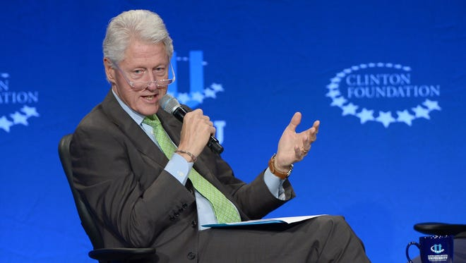 Former President Bill Clinton attends Clinton Global Initiative University - Fast Forward: Accelerating Opportunity for All at University of Miami.