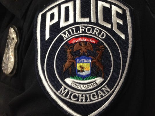 Milford police patch