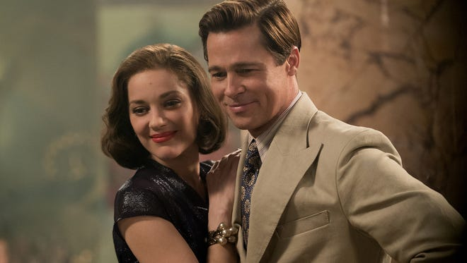 Brad Pitt plays Max Vatan and Marion Cotillard is Marianne Beausejour in 'Allied.'