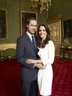 One of two official portrait photographs taken on Nov. 25, 2010 in the Council Chamber in the State Apartment in St James's Palace, London, for the engagment of Prince William and Kate Middleton.