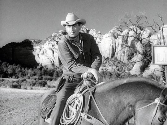 "Glenn Ford saddles up for the original, 1957 version of ""3:10 To Yuma,"" which was shot all over Arizona."