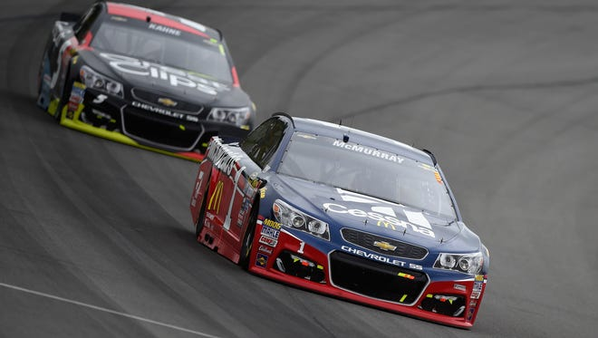 Following Sunday's race at Michigan International Speedway, Jamie McMurray, front, would be the last driver to make the Chase for the Sprint Cup, while Kasey Kahne would be on the outside looking in.