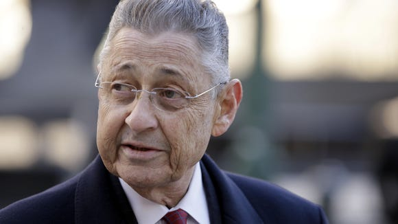 Former New York Assembly Speaker Sheldon Silver outside federal court in Manhattan.