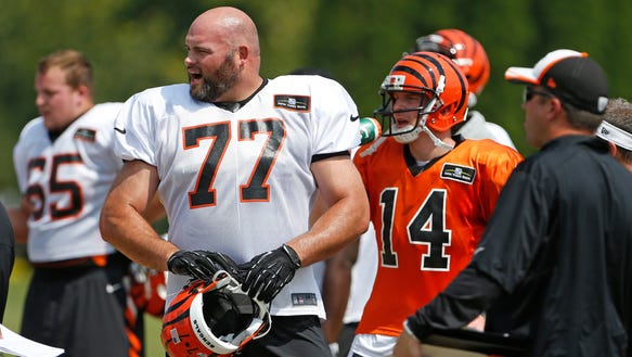 Clint Boling, Andrew Whitworth, Andy Dalton