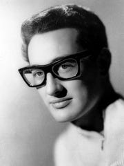 This is an undated file photo of Buddy Holly, the rock