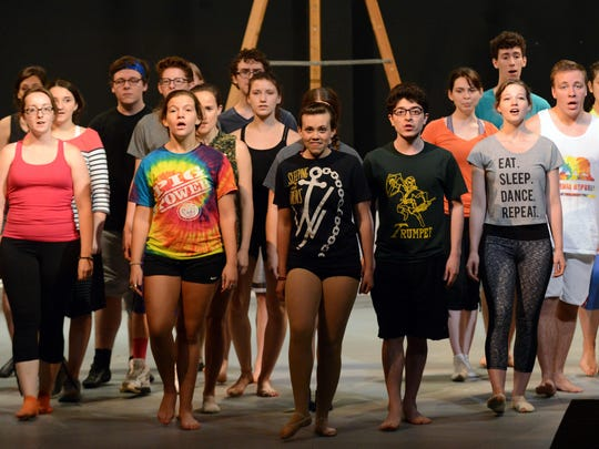 """The cast of """"West Side Story"""" rehearse July 6 at Ohio University Lancaster."""
