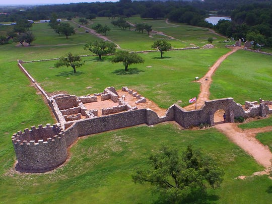 The Presidio de San Saba was established by the Spanish in 1757 to protect frontier residents from Indian attacks and to guard the nearby Mission Santa Cruz de San Saba.