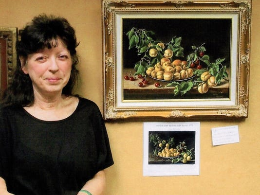 """Courtesy Photo   The winner of the """"People's Choice Award"""" for the Grant County Art Guild's Masters Show is Kate Robinson for her oil painting of """"Still Life of Apricots and Cherries"""" after Melendez. This challenging annual show features the work of some of the most accomplished Guild member artists as they paint in the style of the master painters."""