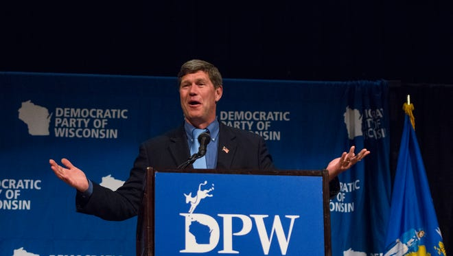 U.S. Rep. Ron Kind of La Crosse speaks at the 2016 Democratic Party of Wisconsin State Convention in Green Bay.