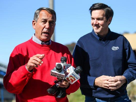 House Speaker John Boehner, R-Ohio, left, and Evan