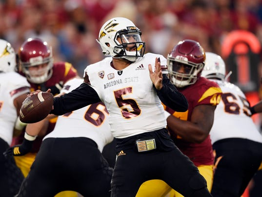 NCAA Football: Arizona State at Southern California