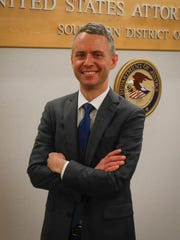 United States Attorney Marc Krickbaum at his office in Des Moines.
