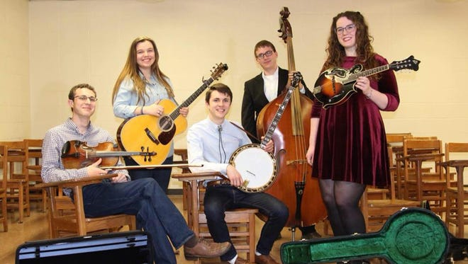 Vermilion Express, a bluegrass band of UL students, perform Wednesday on campus.