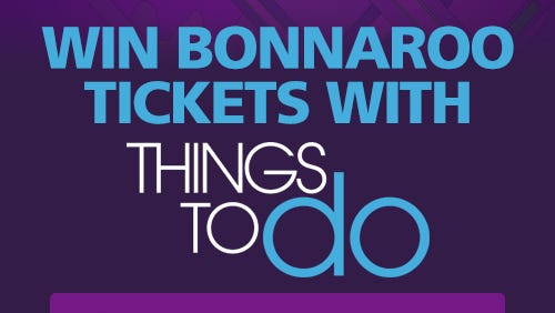 Download our Things to Do Nashville app for a chance to win free tickets to Bonnaroo.