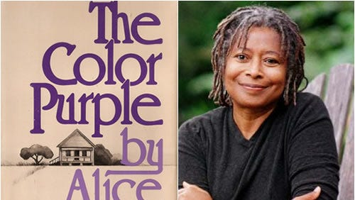 """Alice Walker's book, """"The Color Purple,"""" won a Pulitzer Prize and the National Book Award for Fiction."""