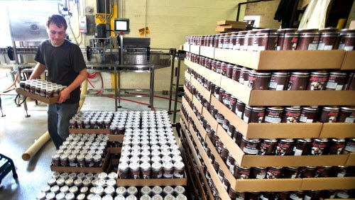 The Sprecher Brewery tour includes the opportunity to see where the beer is bottled (or canned).