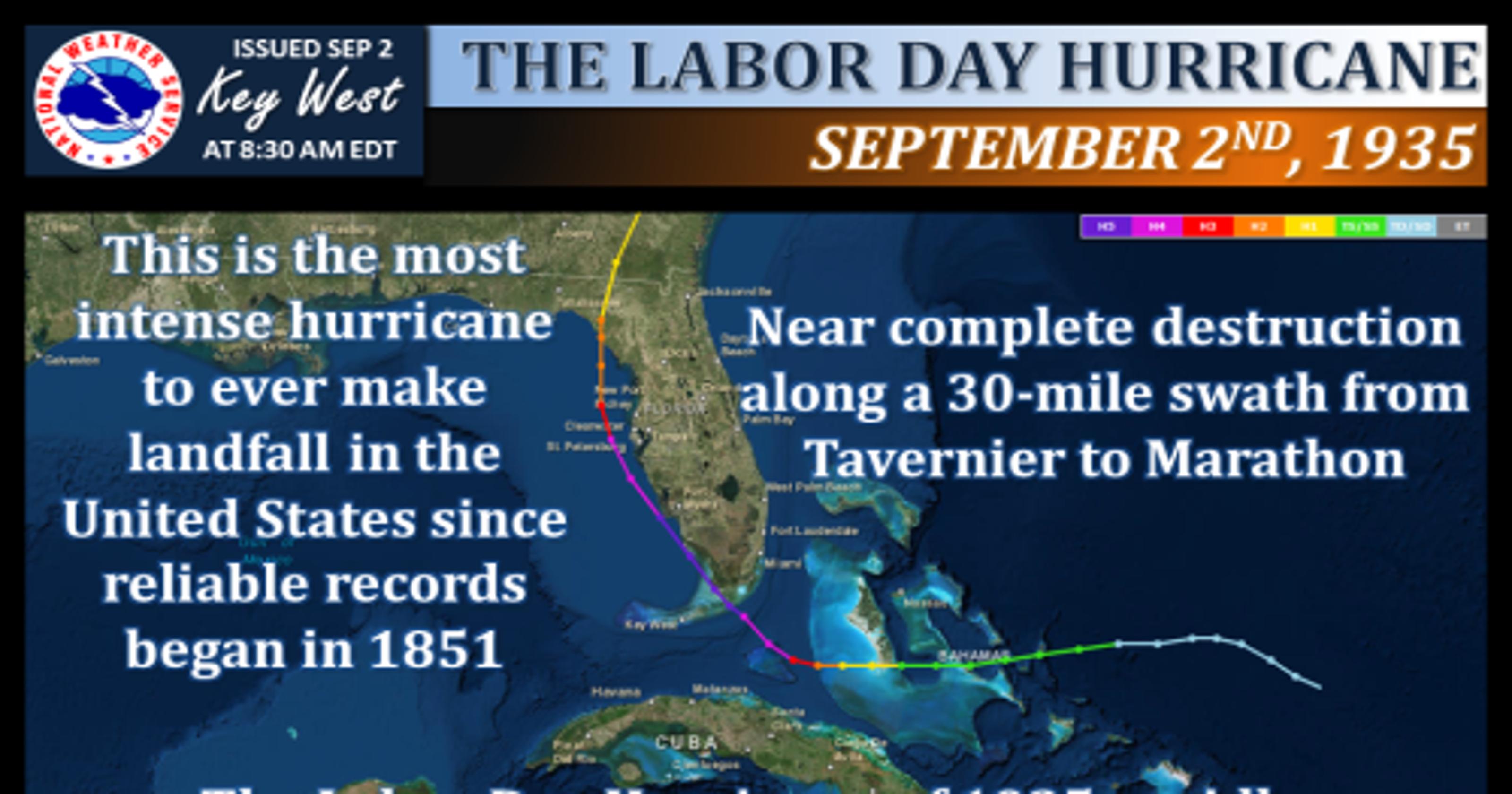 Labor Day Hurricane Clobbered Keys 79 Years Ago
