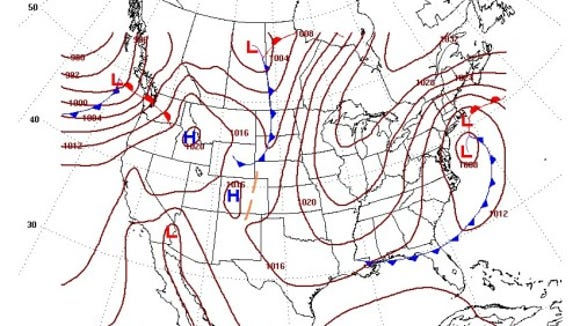 A potential coastal storm on Weds. Oct. 22, 2014