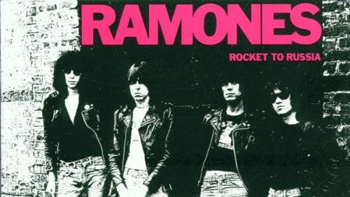 """""""Rocket to Russia"""" by the Ramones."""