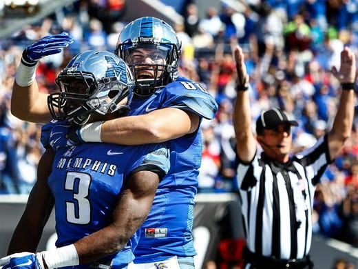 October 17, 2015 - Memphis receiver Anthony Miller
