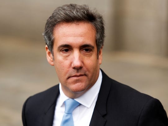 President Trump's lawyer Michael Cohen exits the US
