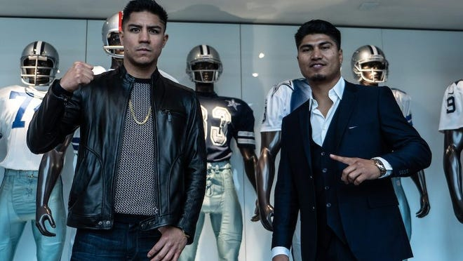 Jessie Vargas (left) and Mikey Garcia will meet Saturday in Frisco, Texas. Lewis Ward / Matchroom Boxing USA