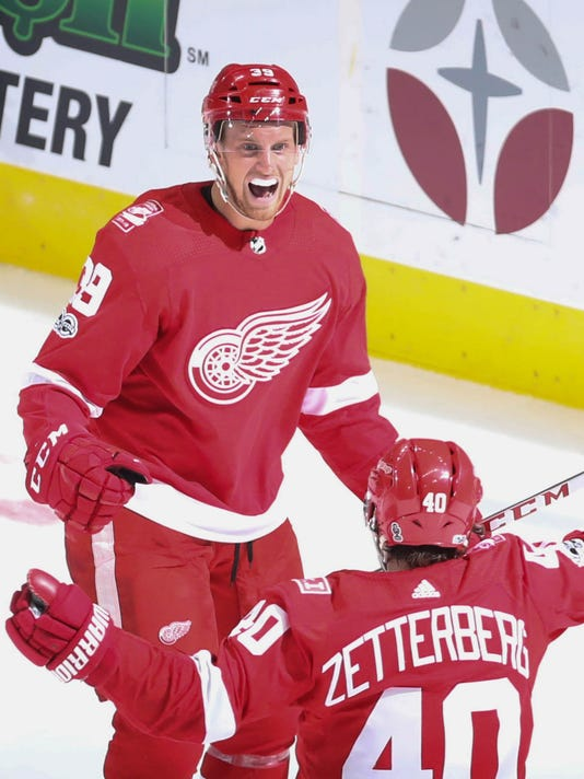 first goal at lca, detroit red wings, lca opener