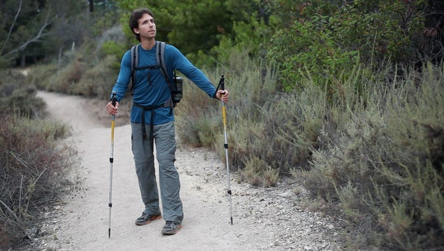 Josh Garrett of Santa Monica, Calif. set the new speed record on the 2,655-mile Pacific Crest Trail with a mark of 59 days, 8 hours, 59 minutes.