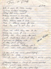 A poem written by Christy Piña, provided by her father John.