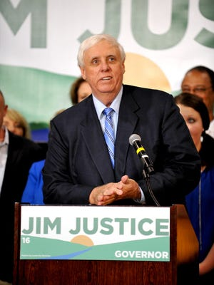 Billionaire businessman Jim Justice announces that he is running for governor of West Virginia as a Democrat in 2016 in White Sulphur Springs on May 11, 2015.