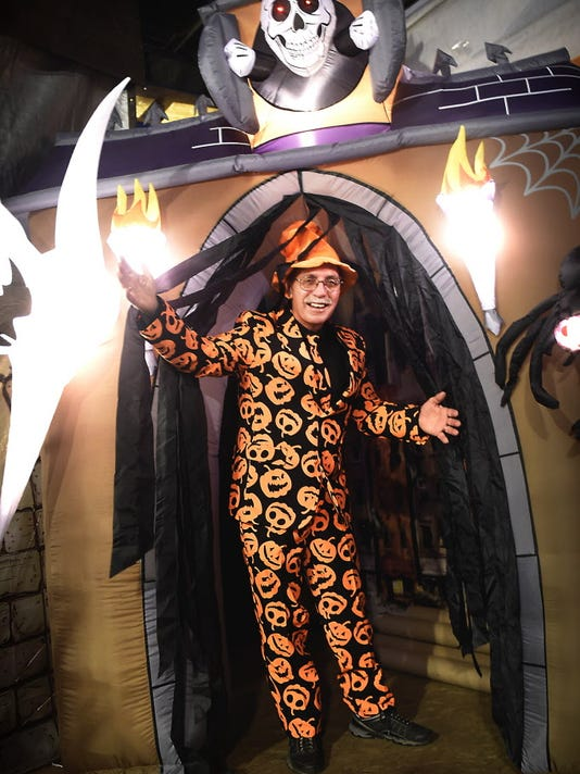 John Batdorf, coordinator for  the North Fifth Street Neighborhood Watch will be welcoming visitors to the organization's Fifth Annual Haunted House located at Church and Hornet Streets on Thursday.
