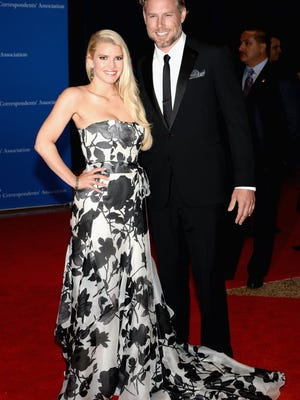 Jessica Simpson and Eric Johnson didn't want to deprive their wedding guests of July 4th fun.