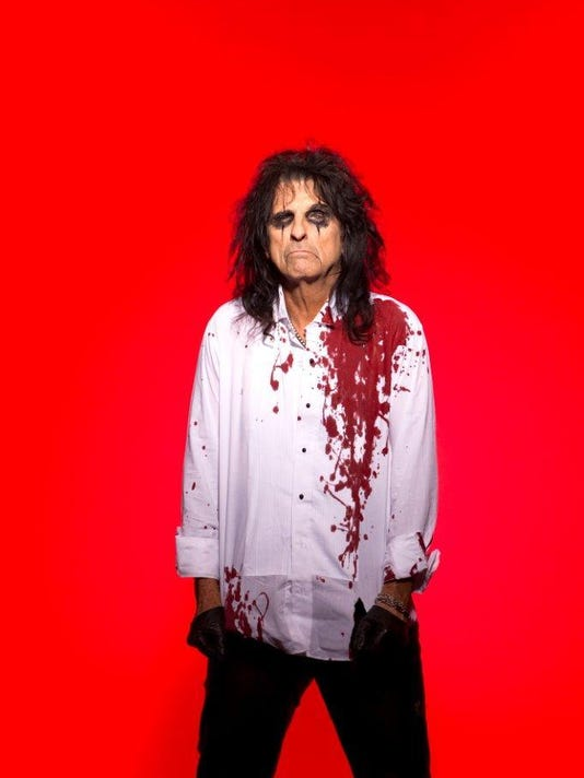 Alice Cooper bloody shirt art