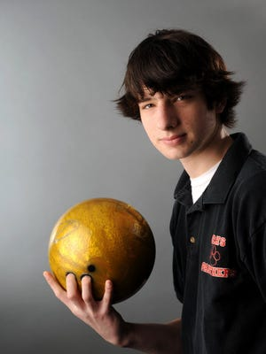 Jake Rollins of Glen Rock High School is the boys bowler of the year.