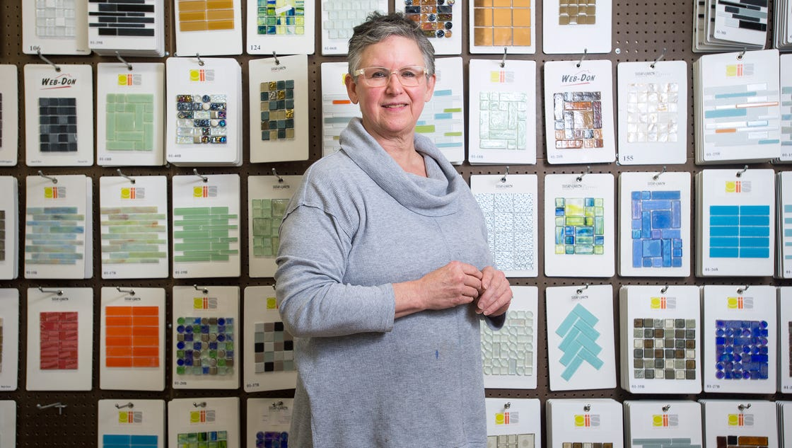 Tile Business Working : Work of art glass tile business honored for tenacity