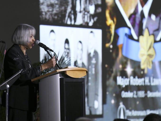 Barbara Lawrence, sister of astronaut Robert H. Lawrence,