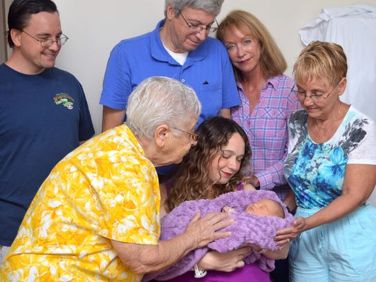 This photo was taken the day after Isabella was born,
