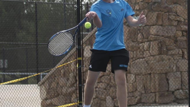 Pueblo West High School senior Brendan Bradfield defeated Canon City's Jacob Jones 6-1, 6-2 before losing to Central's Christian Guzman 6-4, 7-6 (7-1) in the No 1 singles bracket of the Class 4A Region 7 semifinals today at City Park. Bradfield will face Pueblo County's Dean Decarlo for third place on Friday.