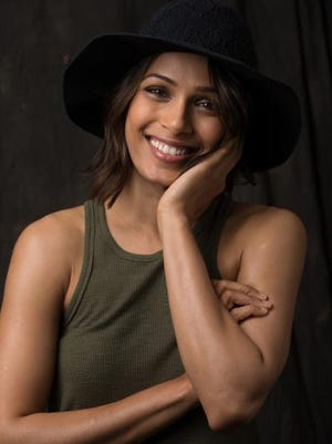 "Freida Pinto, photographed March 26 at 42 West in Century City, Calif., stars in ""Desert Dancer."""