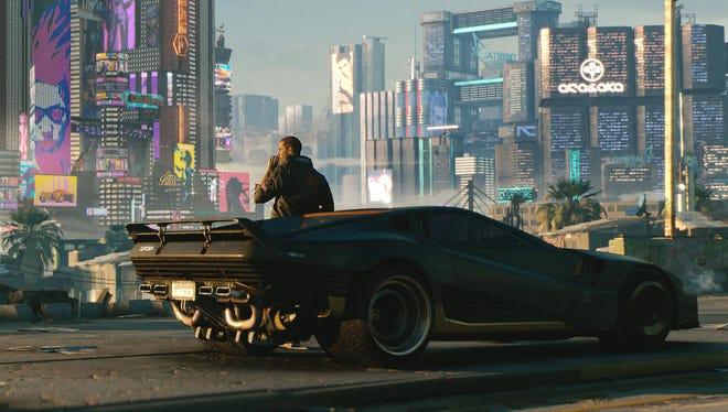"The upcoming video game ""Cyberpunk 2077"" centers on a mercenary in a futuristic metropolis."
