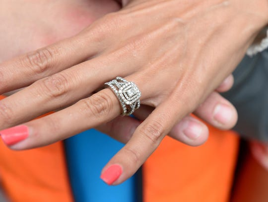Megan Walls lost her wedding band over the weekend