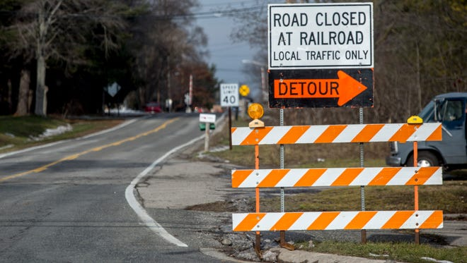 Allen Road in Kimball Township will be closed to through traffic between Lapeer and Griswold roads until Jan. 6 for work on the railroad crossing.