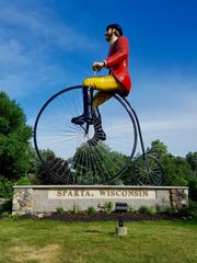 Big Bikin' Ben is a giant sculpture in Sparta, which bills itself as the Biking Capital of America.