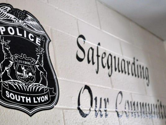 South Lyon police wall
