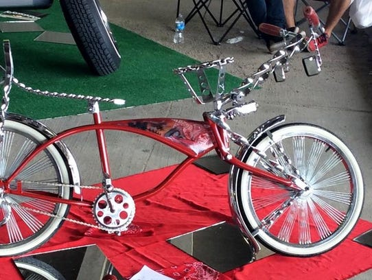 A specialized bike owned by Jesse Paredes, a member of Good Times Car Club, will be included in the Dale Gas! car show on Friday, June 22.